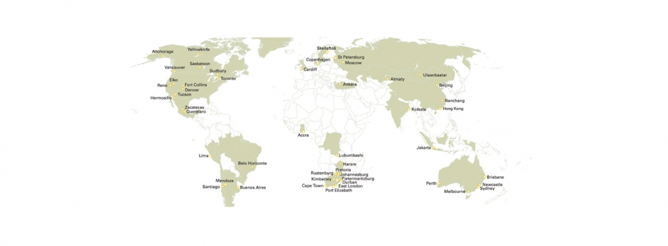 SRK offices world map