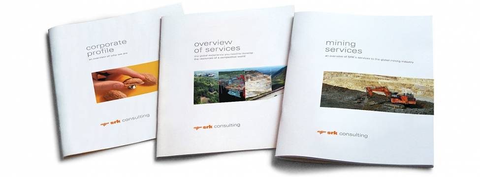 SRK's mining brochure provides summary of available services with example projects and excellent photography.