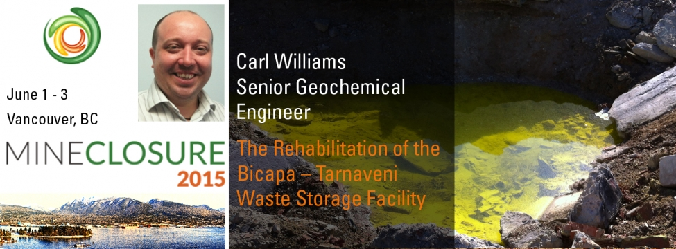 Carl Williams presents on The Rehabilitation of the Bicapa-- Tarnaveni Waste Storage Facility
